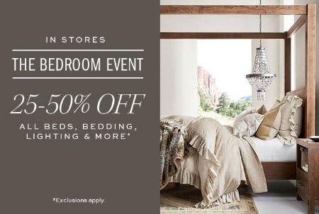 25-50% Off The Bedroom Event