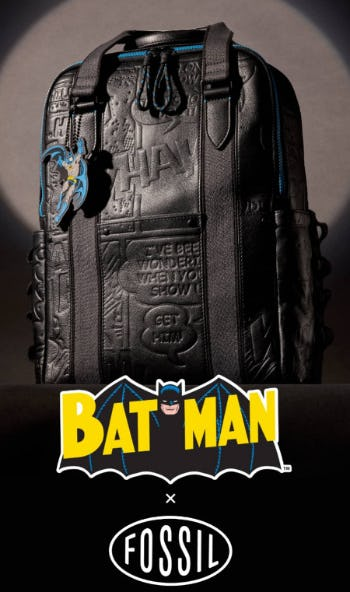 Batman's New Suit Is Leather from Fossil