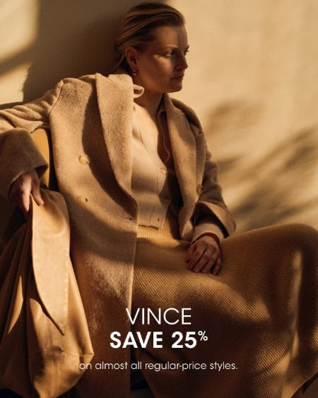 Vince Save 25% from Bloomingdale's