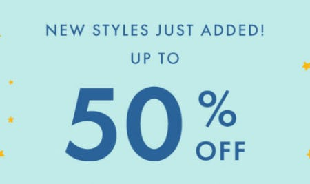 Up to 50% Off New Styles from Hanna Andersson