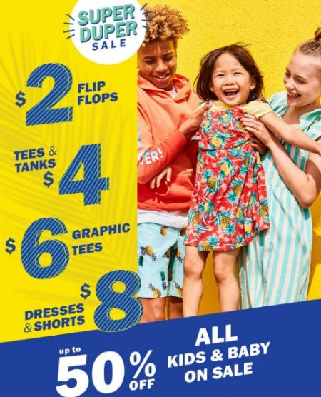 All Kids & Baby on Sale up to 50% Off from Old Navy