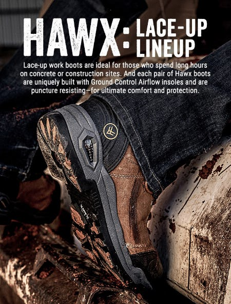 Hawx Lace-Up Boots from Boot Barn