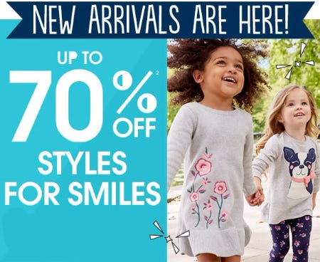 Up to 70% Off Styles for Smiles