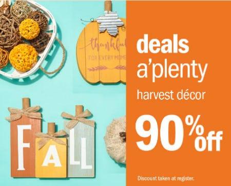 90% Off Harvest Decor from Gordmans