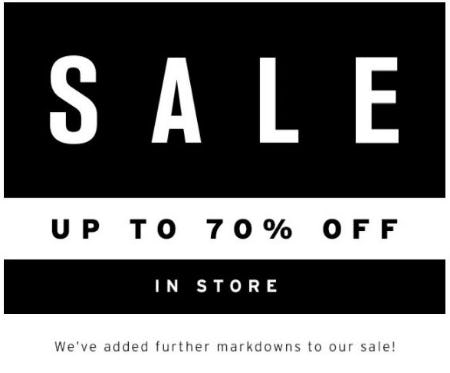 Up to 70% Off Sale from TOPSHOP