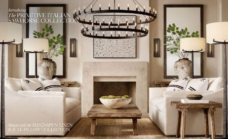 Introducing the Primitive Italian Sawhorse Collection from Restoration Hardware