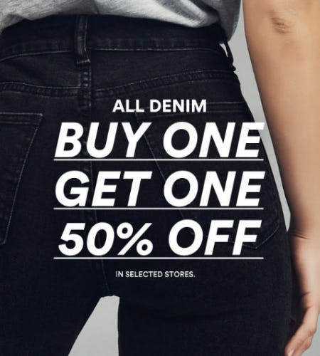 BOGO 50% Off All Denim