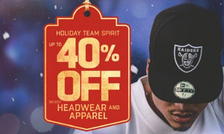 Up to 40% Off Headwear & Apparel