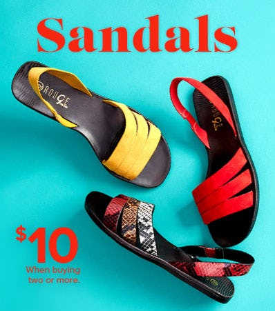 $10 Sandals When Buying 2 or More from Rainbow