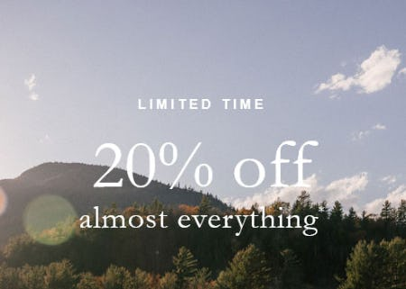 20% Off Almost Everything from Abercrombie & Fitch