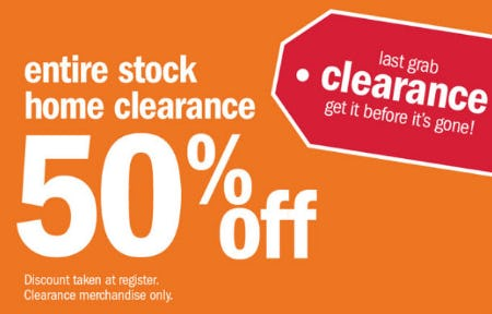 50% Off Entire Stock Home Clearance from Gordmans