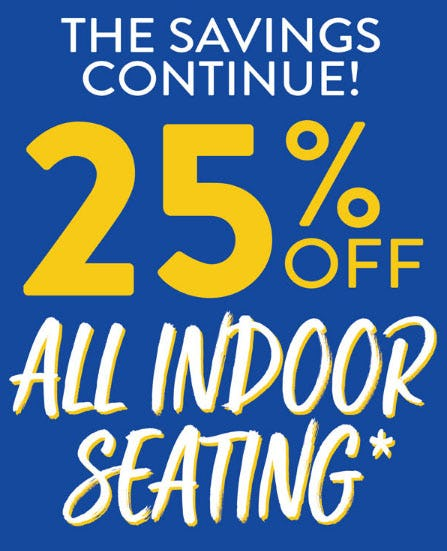25% Off All Indoor Seating from Kirkland's