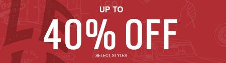 Up to 40% Off Select Styles from Fossil