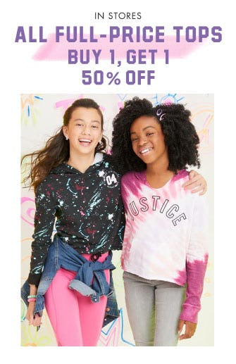 BOGO 50% Off All Full-Price Tops from Justice