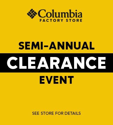 Semi Annual Clearance Event