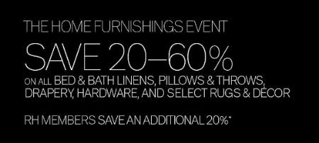 20-60% Off The Home Furnishings Event
