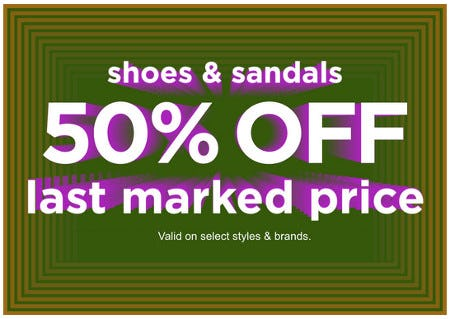 Shoes & Sandals 50% Off Last Marked Price from Zumiez