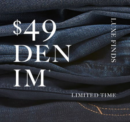 $49 Denim from Banana Republic