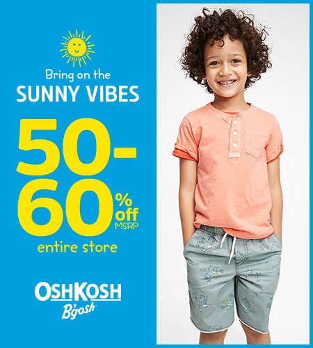 Bring on the Sunny Vibes 50-60% Off* Entire Store from Oshkosh B'gosh