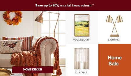 Up to 20% Off Home Sale from Target