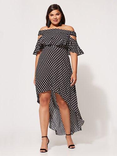 FTF Hollie Polka Dot Maxi Dress from Fashion To Figure