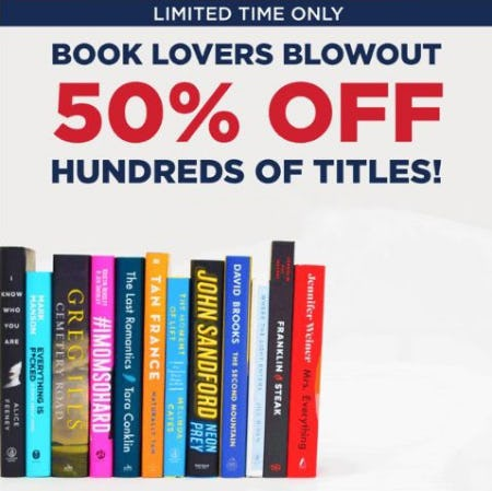 50% Off Hundreds of Titles from Books-A-Million