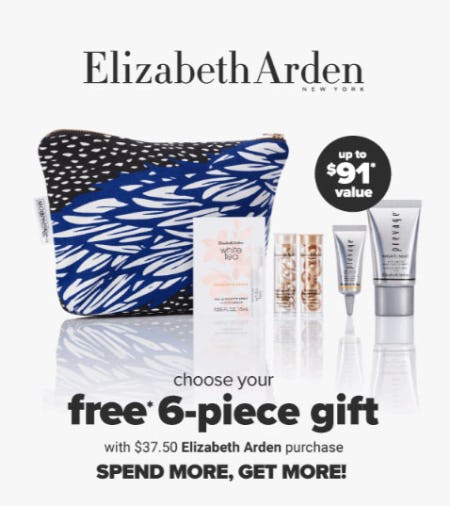 Free Gift with $37.50 Elizabeth Arden Purchase from Belk