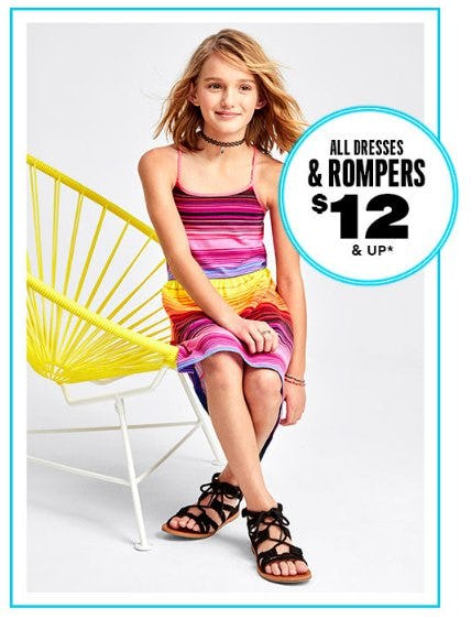 All Dresses & Rompers $12 & Up from The Children's Place
