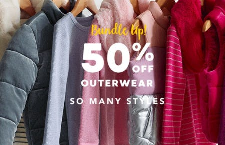 50% Off Outerwear from Gymboree