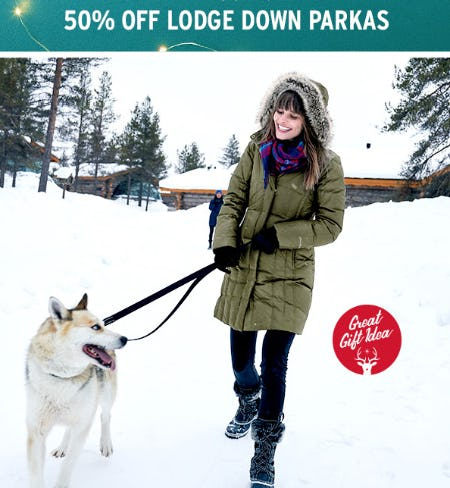 50% Off Lodge Down Parkas from Eddie Bauer