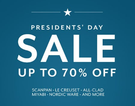 Up to 70% Off Presidents' Day Sale from Sur La Table