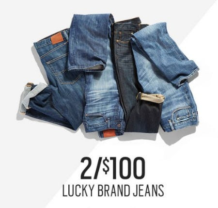 2 for $100 Lucky Brand Jeans from Men's Wearhouse and Tux