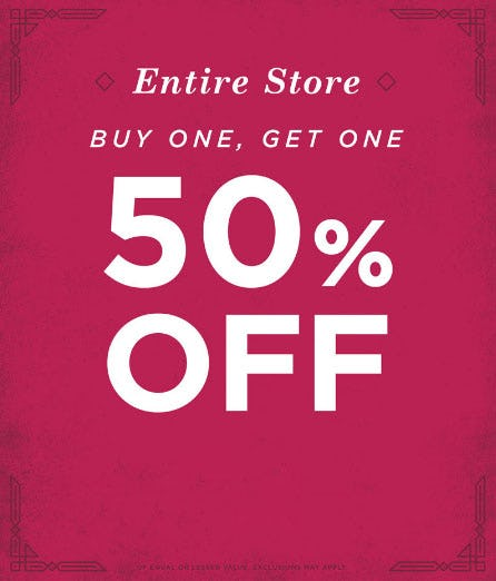 BOGO 50% Off Entire Store from Earthbound Trading Company