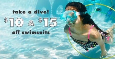 $10 & $15 All Swimsuits from Justice