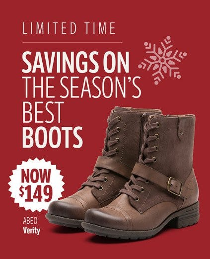 Savings on the Season's Best Boots from THE WALKING COMPANY