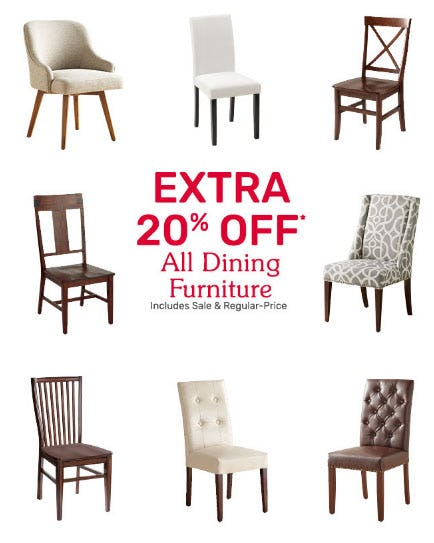 Extra 20% Off All Dining Furniture from Pier 1 Imports