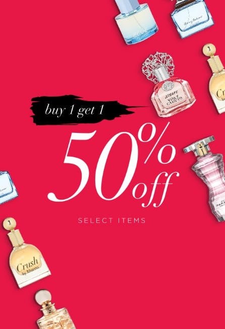 B1G1 50% Off Select Items from Perfumania