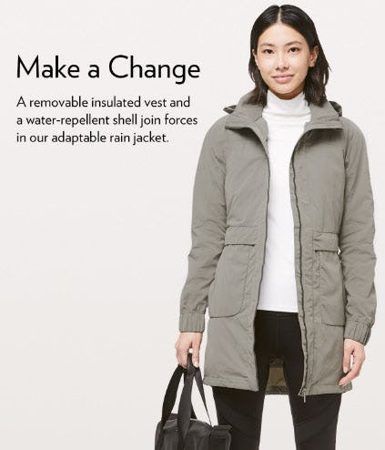 A 3-in-1 Jacket for Changing Weather from lululemon