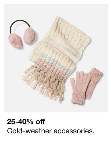 25-40% Off Cold-Weather Accessories