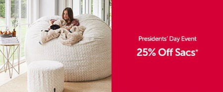 25% Off Sacs from Lovesac Designed For Life Furniture Co