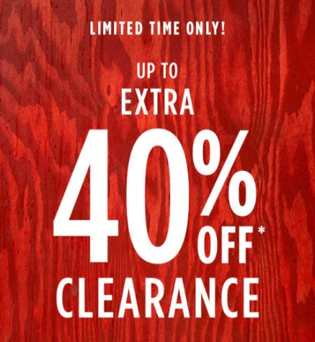 Up to Extra 40% Off Clearance from Tillys