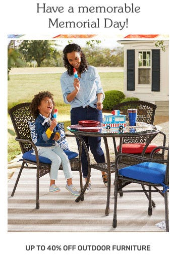 Up to 40% Off Outdoor Furniture from Pier 1 Imports
