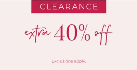 Extra 40% Off Clearance from Lane Bryant