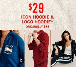 $29 Icon Hoodie & Logo Hoodie from Abercrombie & Fitch