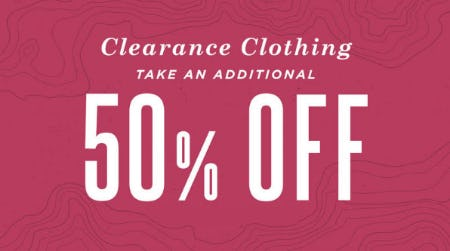 Additional 50% Off Clearance Clothing