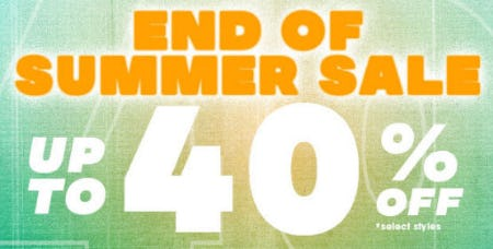 Up to 40% Off End of Summer Sale from Tillys
