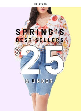 Spring's Best Sellers $25 & Under from Forever 21