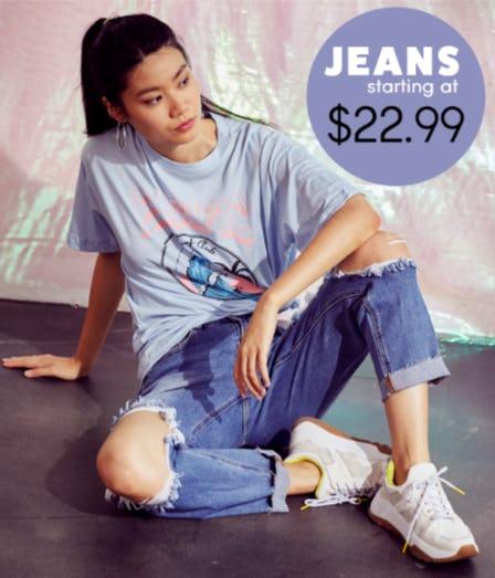 Jeans Starting at $22.99 from Papaya