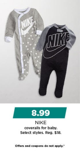 $8.99 Nike Coveralls for Baby from Kohl's