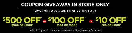 Thanksgiving Coupon Giveaway from JCPenney